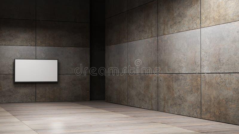 TV screen 3d rendering. TV screen high resolution 3d rendering vector illustration