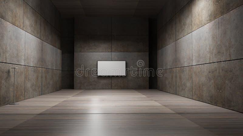 TV screen 3d rendering. TV screen high resolution 3d rendering stock illustration