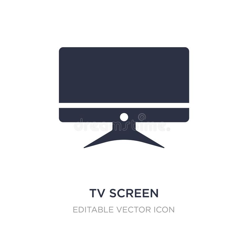 tv screen icon on white background. Simple element illustration from Computer concept royalty free illustration