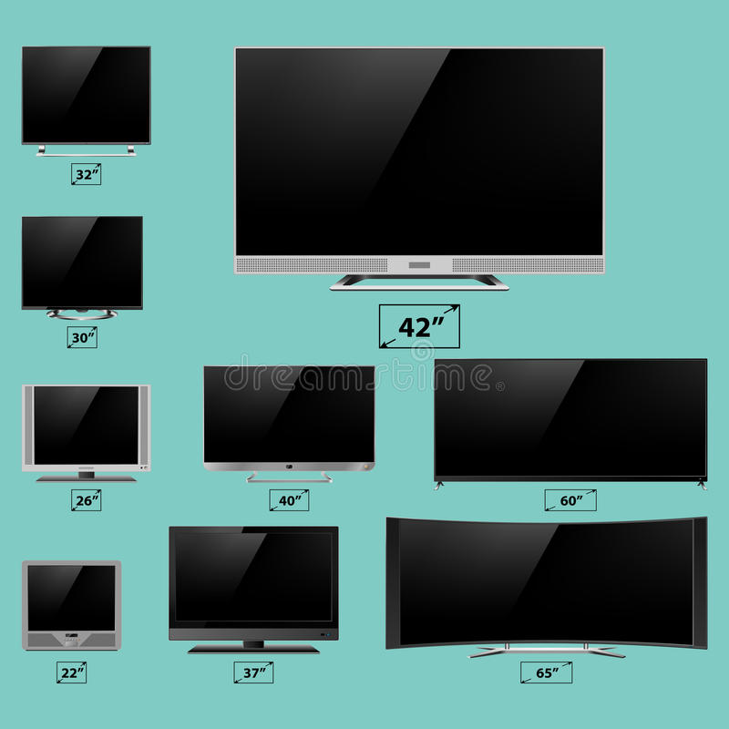 TV screen lcd monitor template electronic device technology digital device display vector illustration. stock illustration
