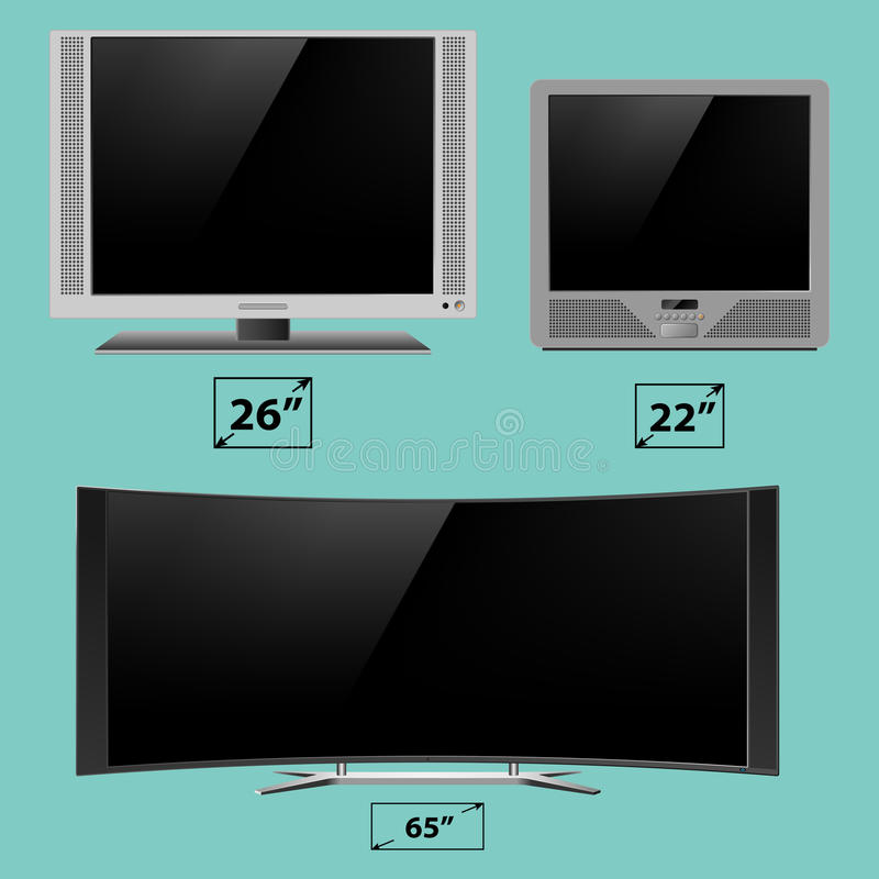 TV screen lcd monitor template electronic device technology digital device display vector illustration. royalty free illustration