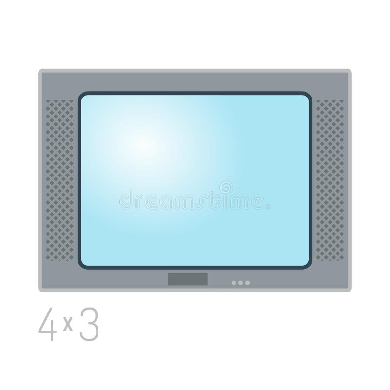 TV screen lcd monitor template electronic device technology digital size diagonal display and video modern plasma home. TV screen lcd retro monitor template royalty free illustration