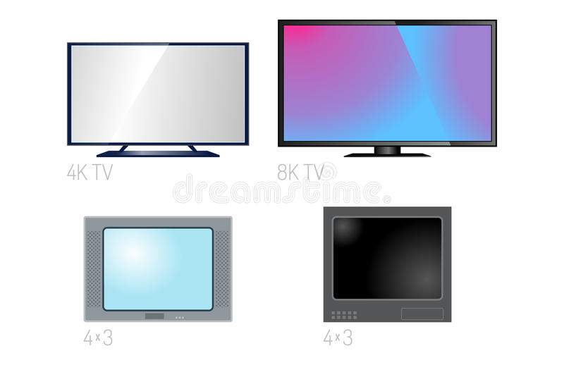 TV screen lcd monitor template electronic device technology digital size diagonal display and video modern plasma home. TV screen lcd retro monitor template vector illustration