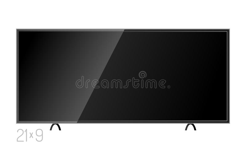 TV screen lcd monitor template electronic device technology digital size diagonal display and video modern plasma home. Computer vector illustration. Hdtv royalty free illustration