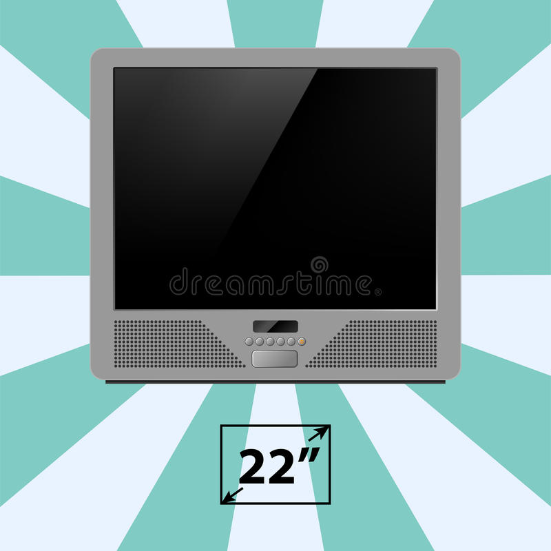 TV screen retro monitor template electronic device technology digital device display vector illustration. royalty free illustration