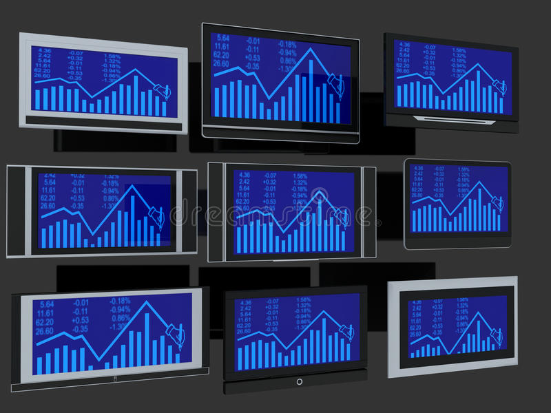 Download TV screens stock illustration. Illustration of global - 11895947