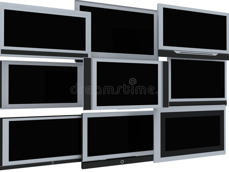 Download TV screens stock illustration. Image of business, industry - 11998909