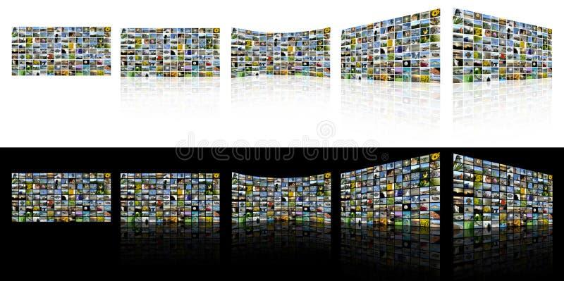 TV Screens stock image