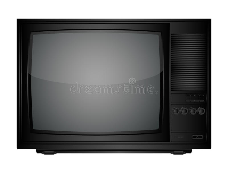 TV set. Isolated image of a TV set. Vector illustration vector illustration