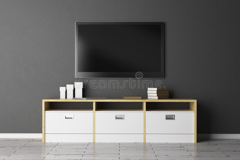 TV set with empty display vector illustration