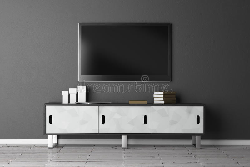 TV set with empty screen vector illustration