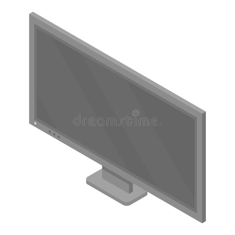 Tv set icon, isometric style. Tv set icon. Isometric of tv set vector icon for web design isolated on white background royalty free illustration