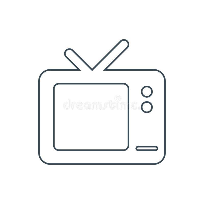 TV set icon. On the white background. Vector illustration stock illustration
