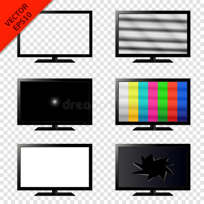 TV set isolated on transparent background royalty free illustration