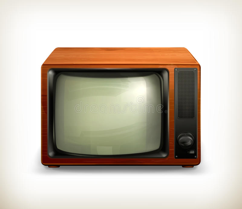 TV set retro. Computer illustration on white background vector illustration