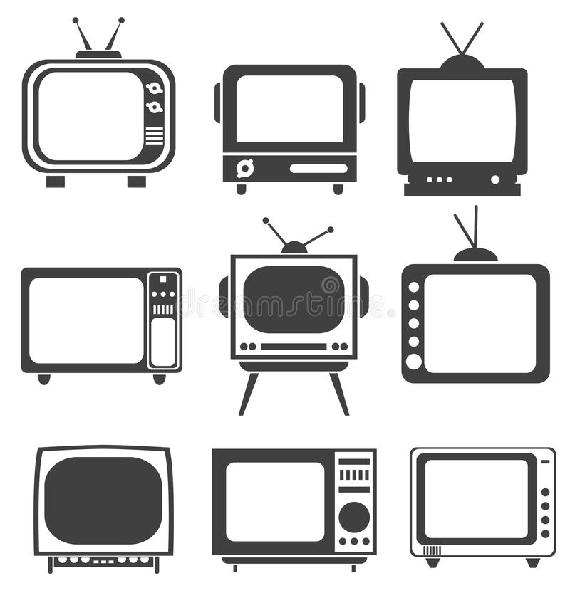 Download Tv set stock vector. Image of medium, design, television - 34059961