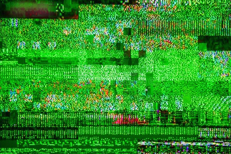 TV-signaal Digital Video Broadcasting van het lawaai het slechte signaal dbvt royalty-vrije stock afbeeldingen