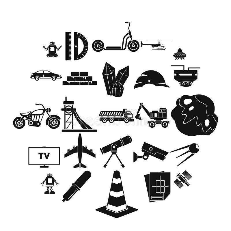 TV software icons set, simple style. TV software icons set. Simple set of 25 tv software vector icons for web isolated on white background vector illustration