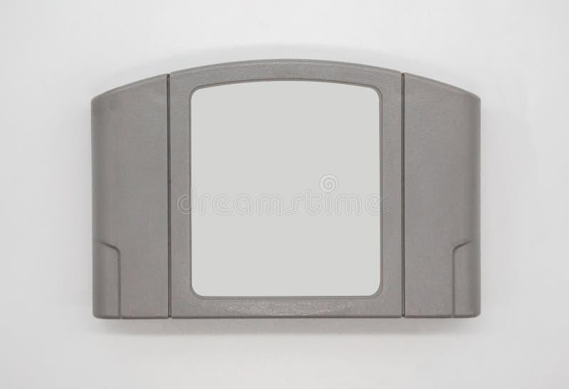 TV-spelpatroon in grijs plastic die geval van jaren '90 op whit worden geïsoleerd stock foto's