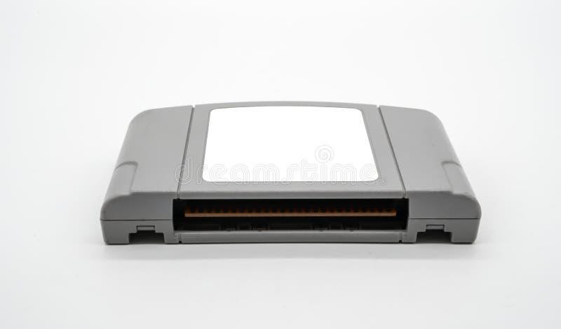 TV-spelpatroon in grijs plastic die geval van jaren '90 op whit worden geïsoleerd royalty-vrije stock foto