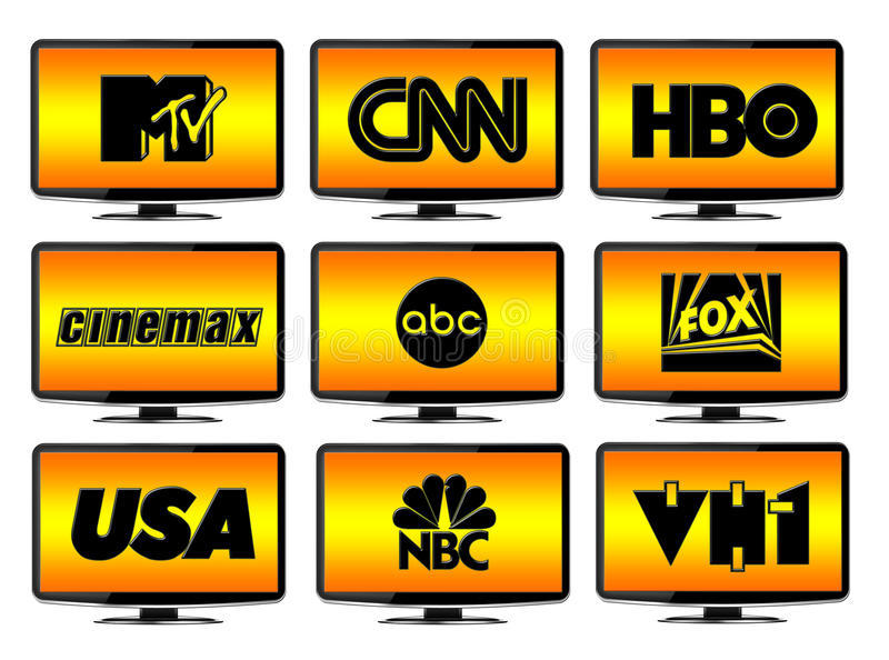 Download TV Stations Logos editorial stock photo. Illustration of station - 20771998