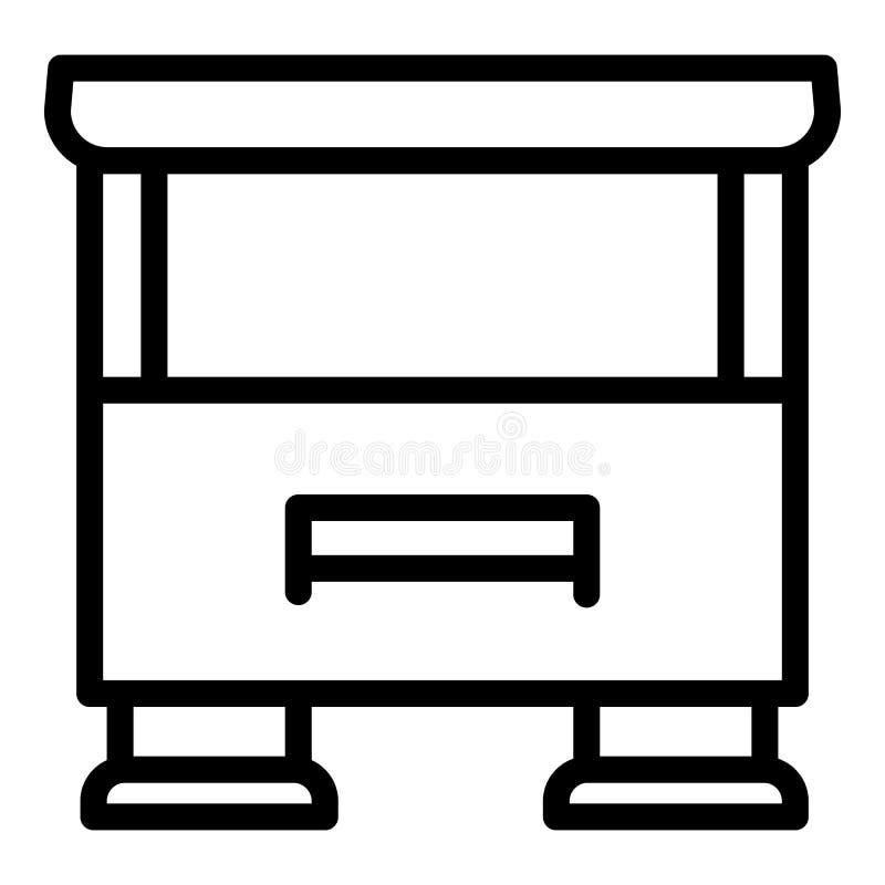 TV stojaka ikona, konturu styl royalty ilustracja