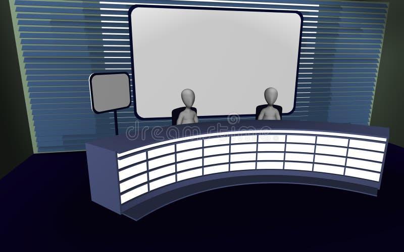 Download Tv studio stock illustration. Image of studium, broadcast - 14954236