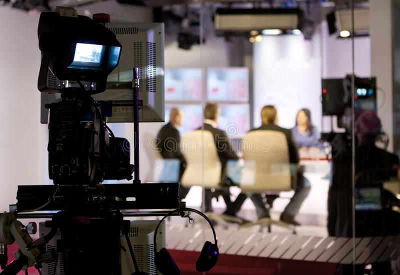 TV studio stock photography