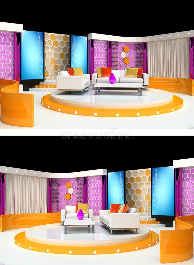 Download Tv studio design stock illustration. Image of live, pink - 20341714