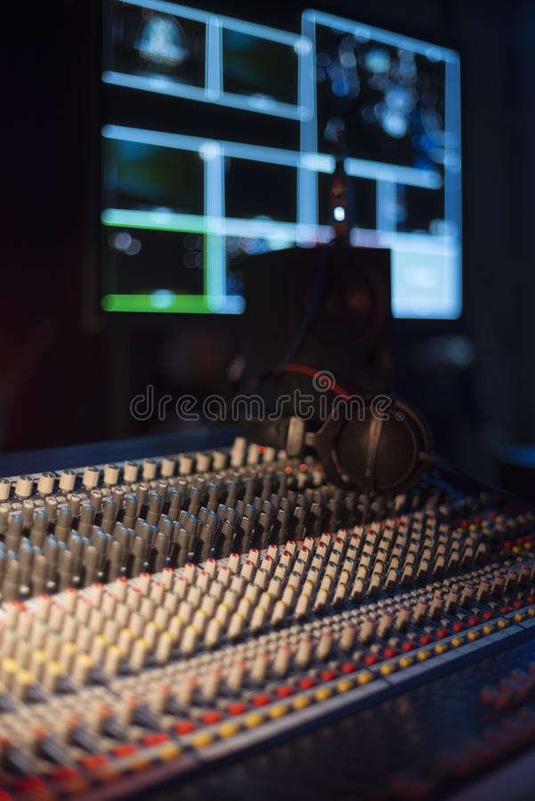 TV studio. For filming programs and news royalty free stock photography