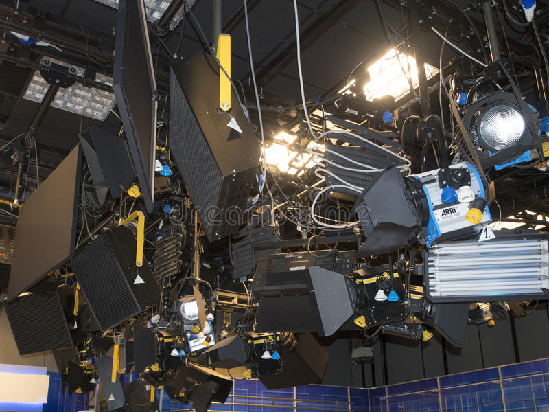 TV studio lights royalty free stock photography