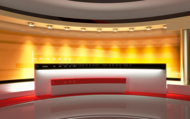 Tv Studio. News studio, Studio set. Tv Studio set. The perfect backdrop for any green screen or chroma key video or photo production. 3d render. 3d visualisation vector illustration