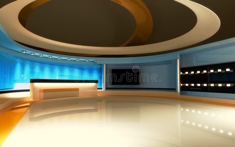 TV-studio Nieuwsstudio, Studioreeks vector illustratie