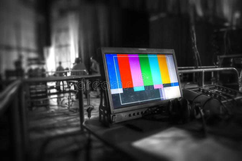 TV studio. For filming programs and news stock photo