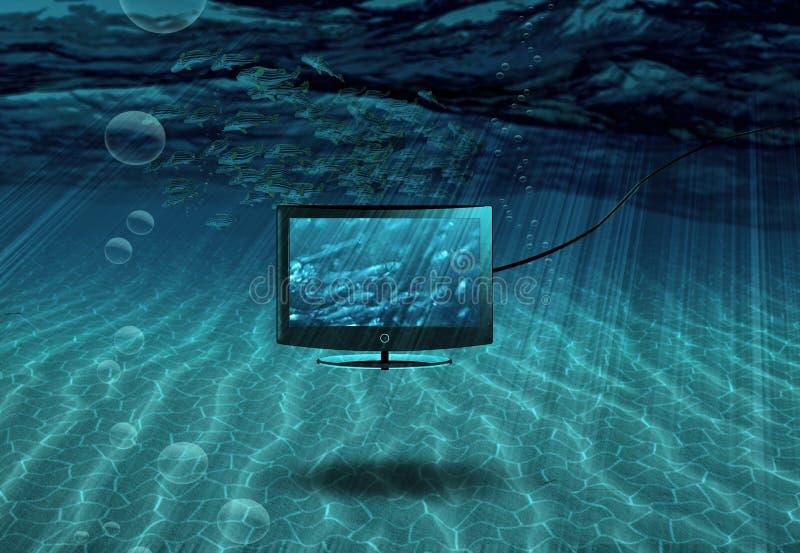 TV submarina ilustración del vector