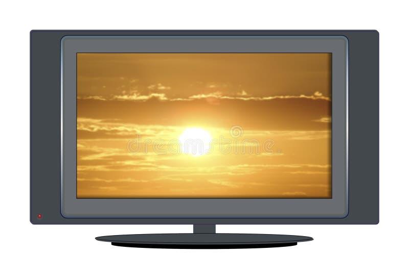 TV sunset stock photos