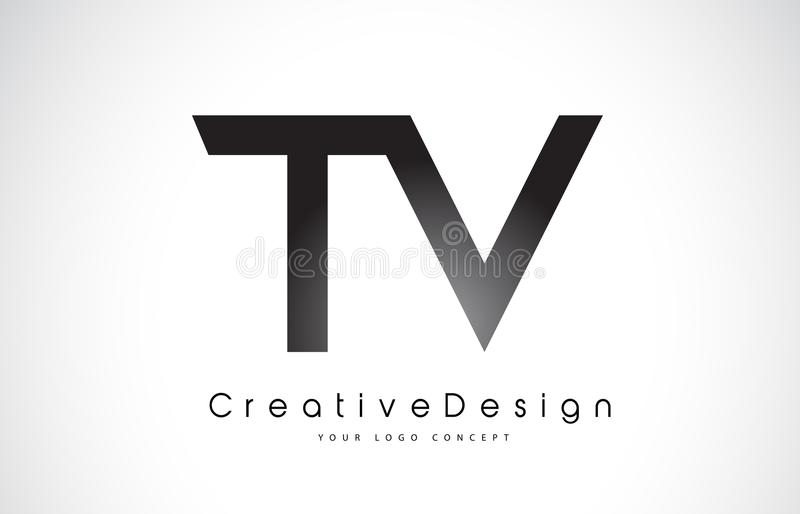 TV T V Brief Logo Design Creatieve Pictogram Moderne Brieven Vectorl royalty-vrije illustratie