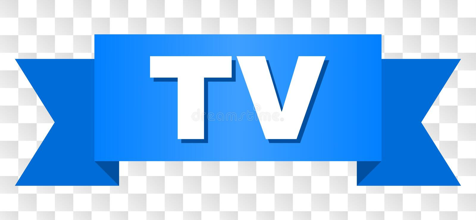 Blue Stripe with TV Text stock illustration