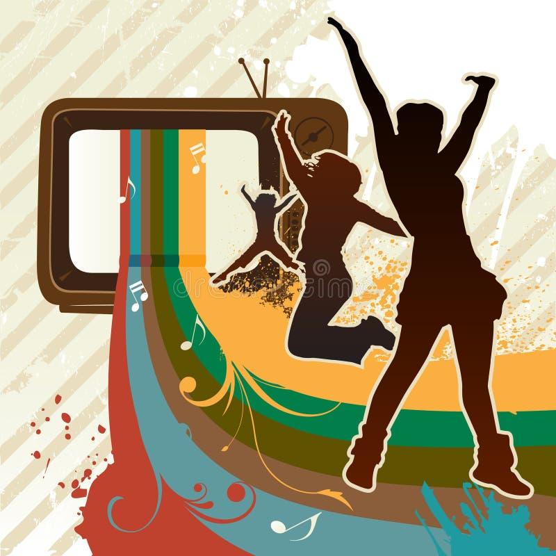 TV toont royalty-vrije illustratie