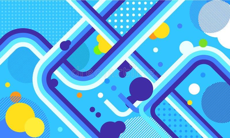 TV toont uitzending funky neon vector abstracte achtergrond Jazz, disco, partij, graffiti, het festival van de onderbrekingsdans  stock illustratie