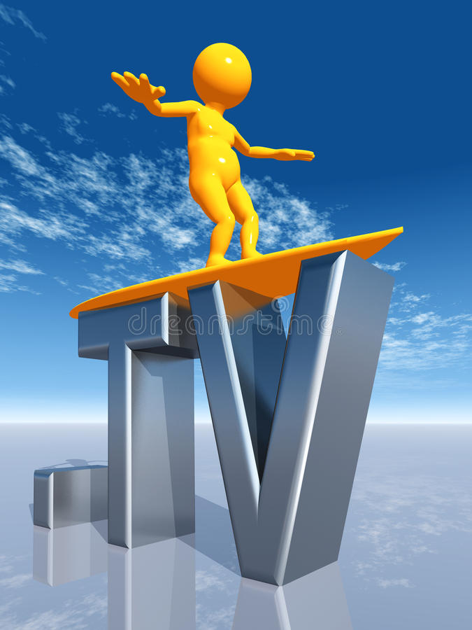 TV Top Level Domain Royalty Free Stock Photo
