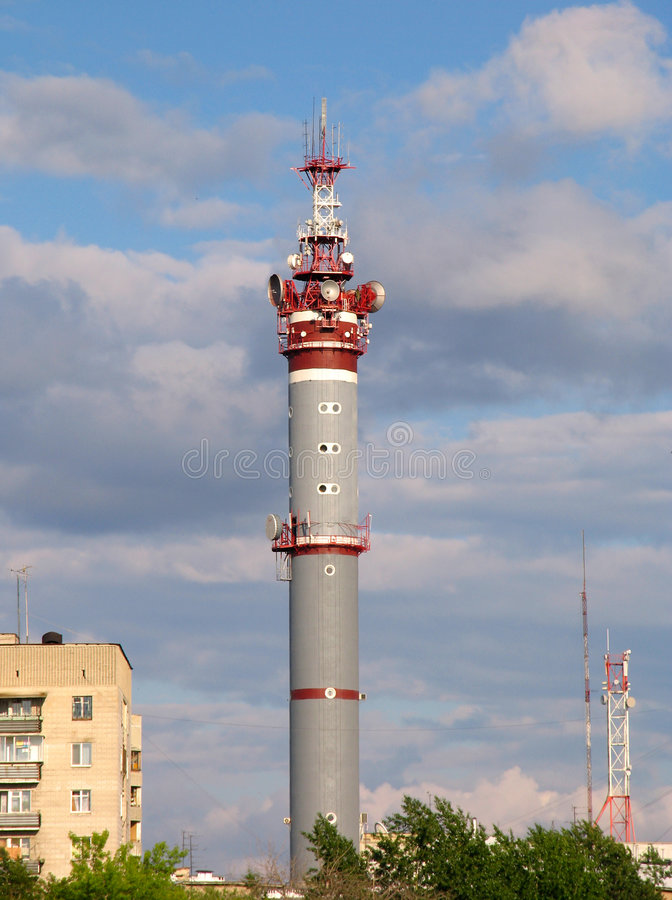 Download Tv tower stock photo. Image of transmiter, sverdlovsk, town - 225246