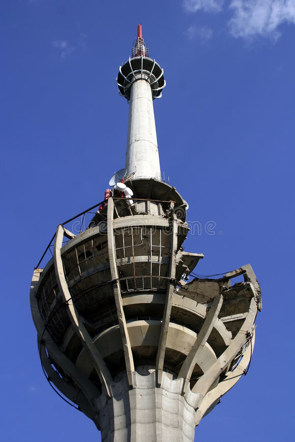 Tv tower stock photo