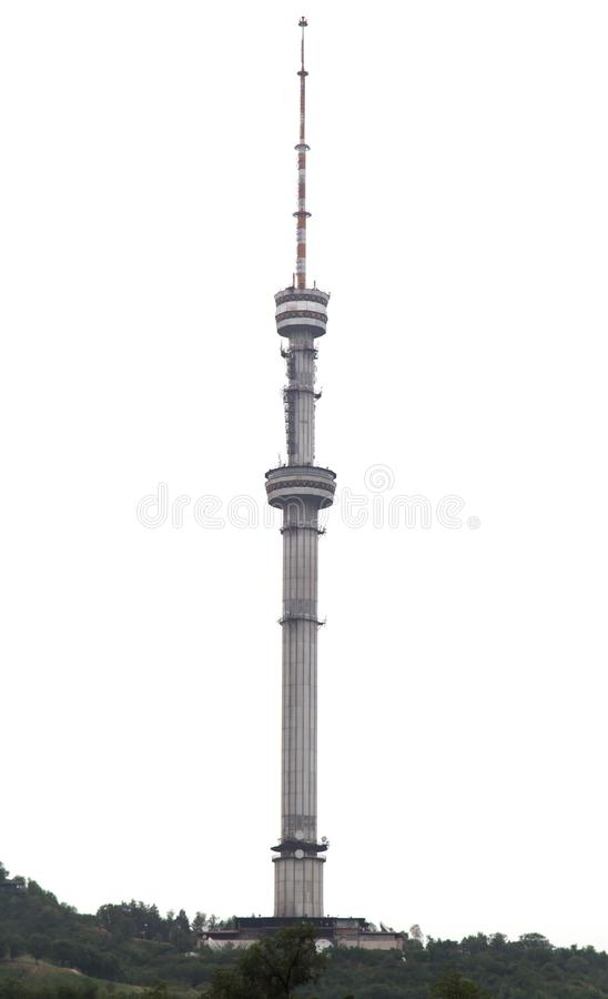 TV tower in Almaty, Kazakhstan. In the park in nature stock images