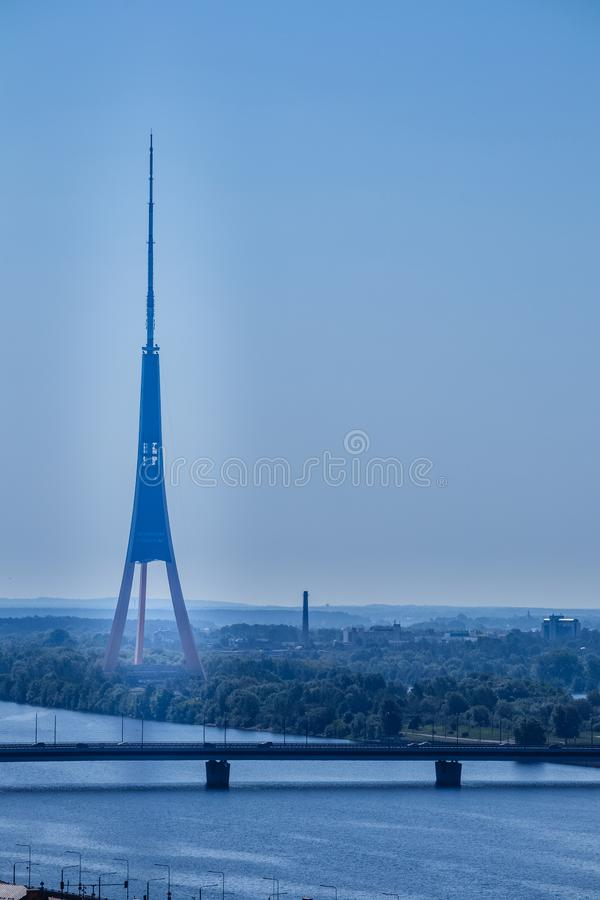 The TV tower of Riga, Latvia. royalty free stock photography