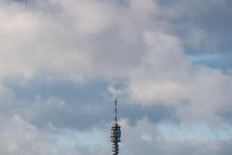 TV tower in Zalaegerszeg hungary. A TV tower in Zalaegerszeg hungary stock image