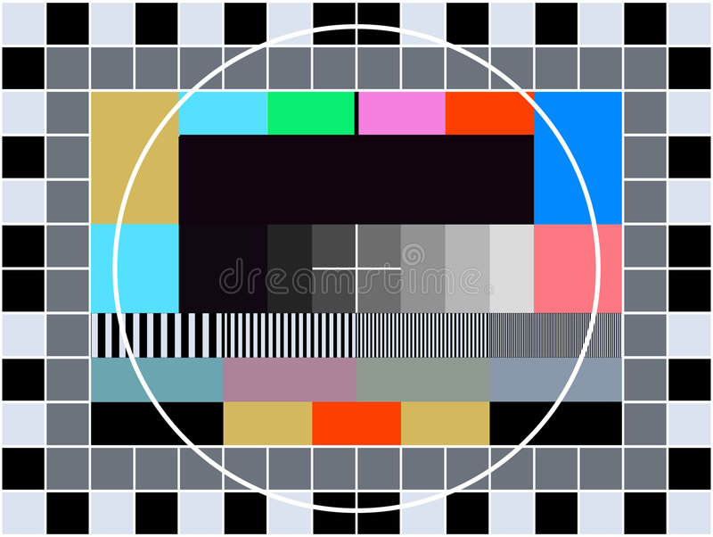 TV transmission test card stock vector. Illustration of