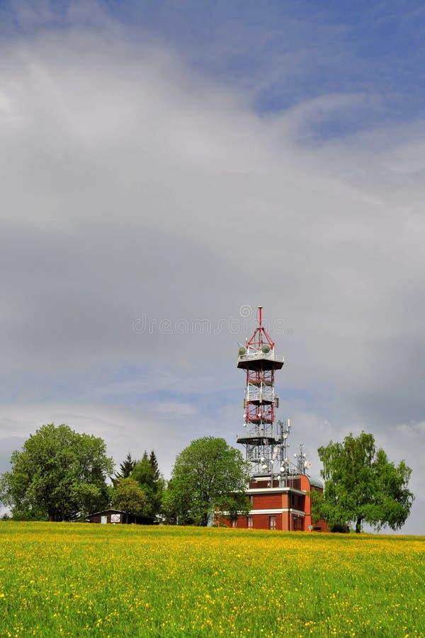 TV transmitter Kozakov royalty free stock photography