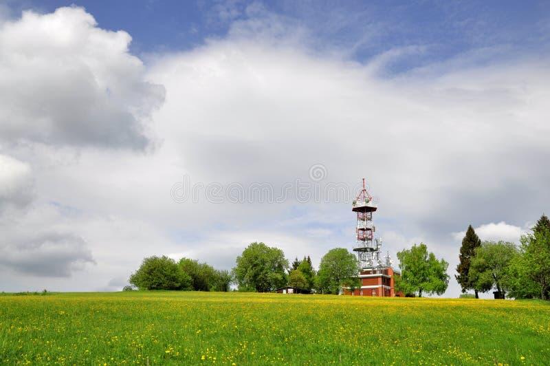 TV transmitter Kozakov royalty free stock photo