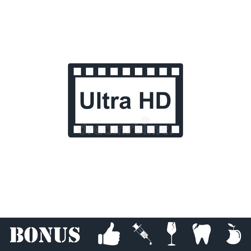 TV Ultra HD ikony mieszkanie ilustracji